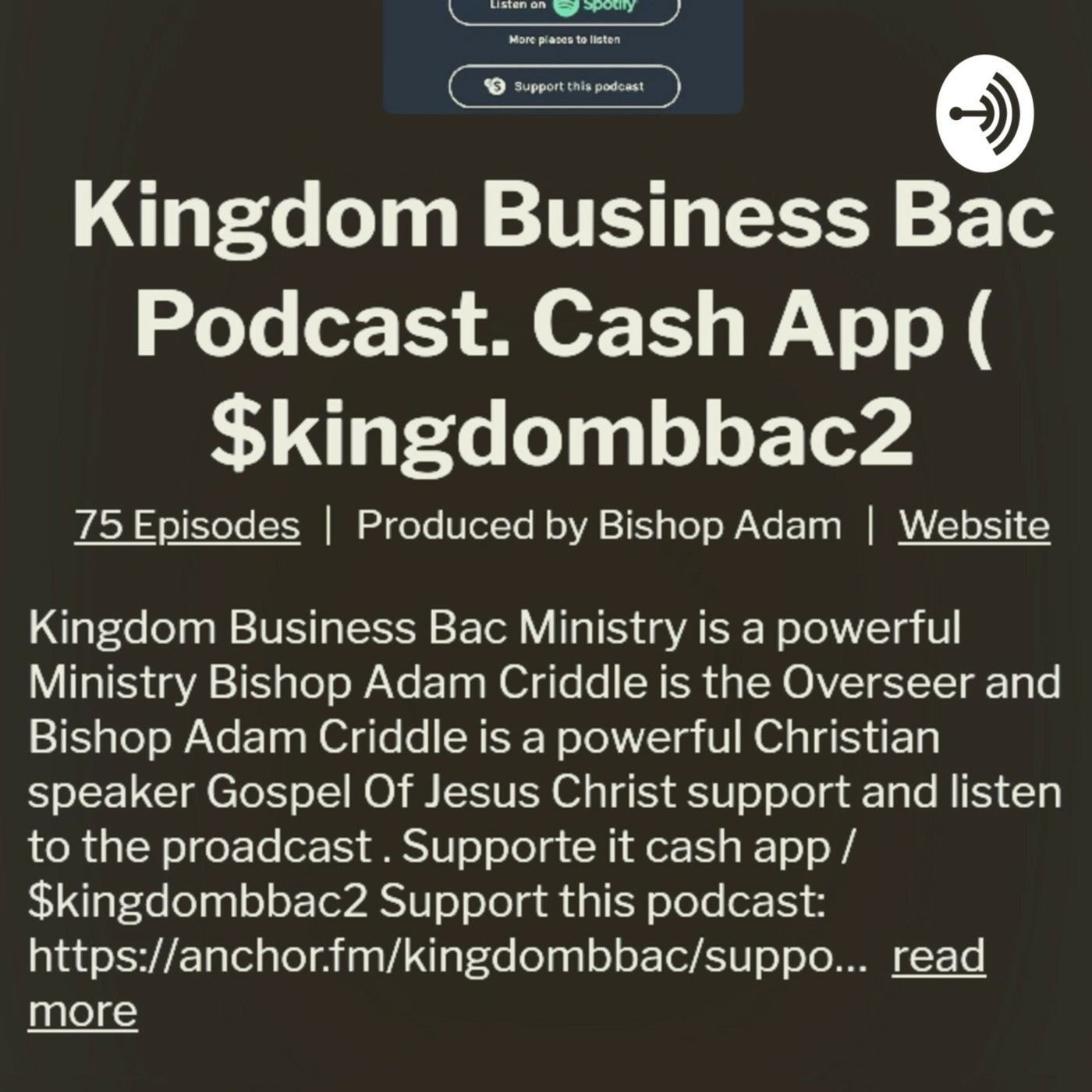 Kingdom Business Bac podcast with Bishop Adam c visit today and keep back.